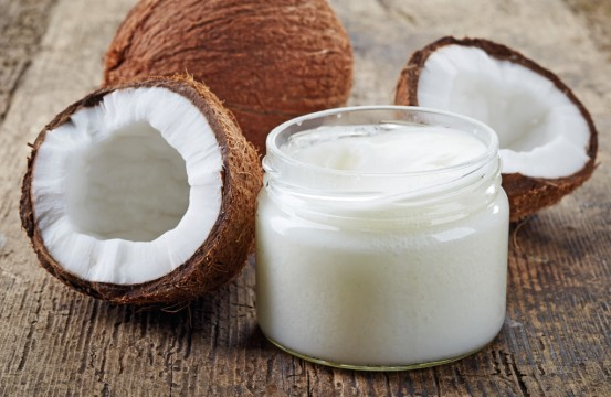 coconut oil and fresh coconuts